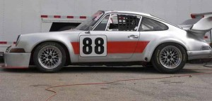 Porsche911 race car built by Automobile Associates in Road Atlanta paddock